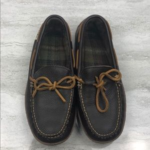 NWOB LL BEAN Men's Handsewn Slippers Flannel-Lined